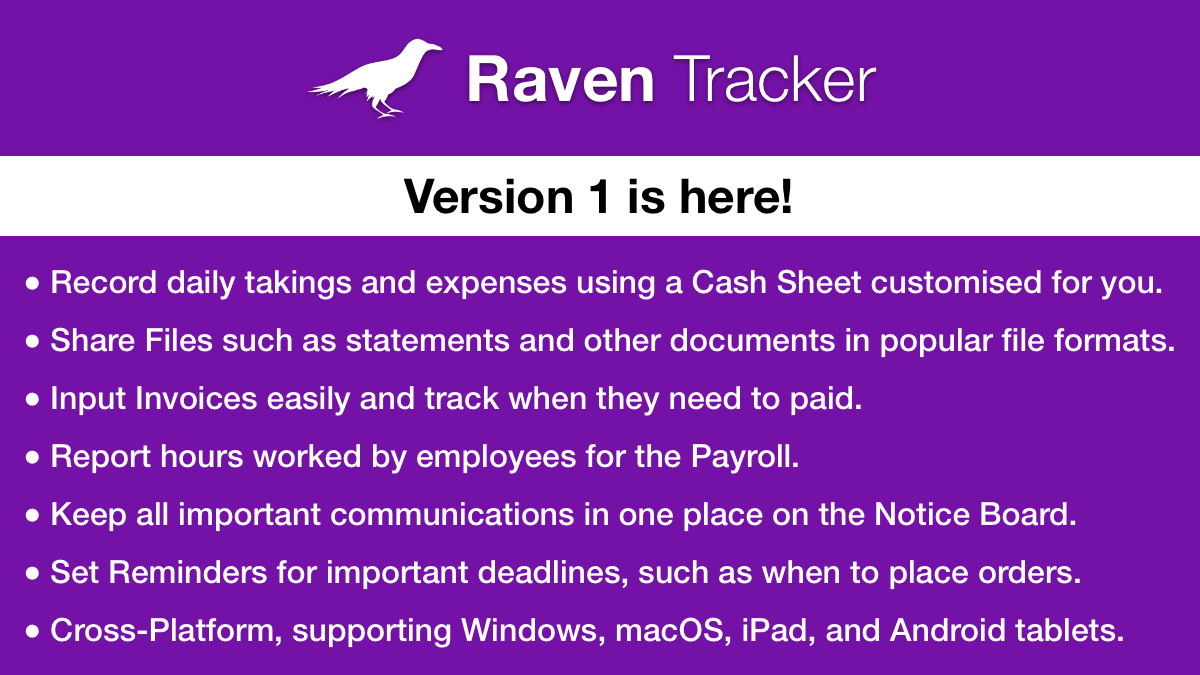 Raven Tracker 1.0