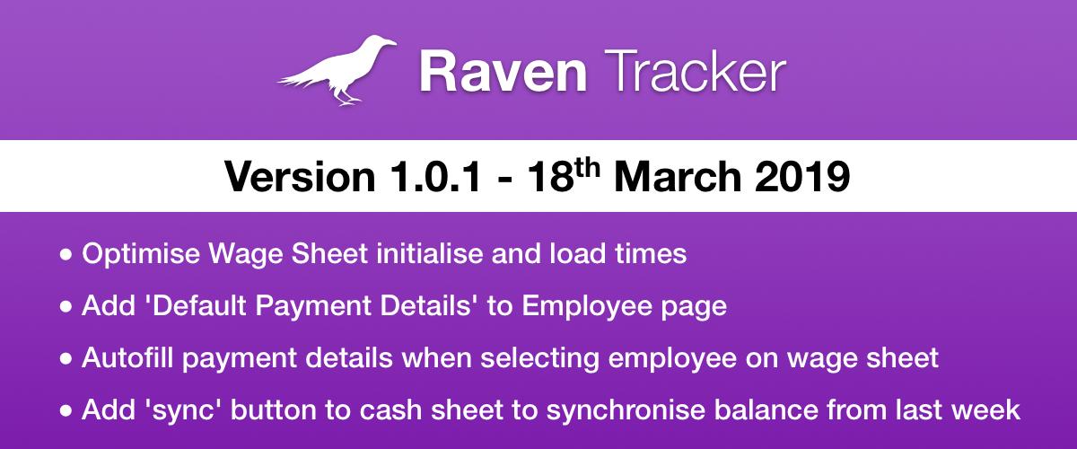 Raven Tracker 1.0.1