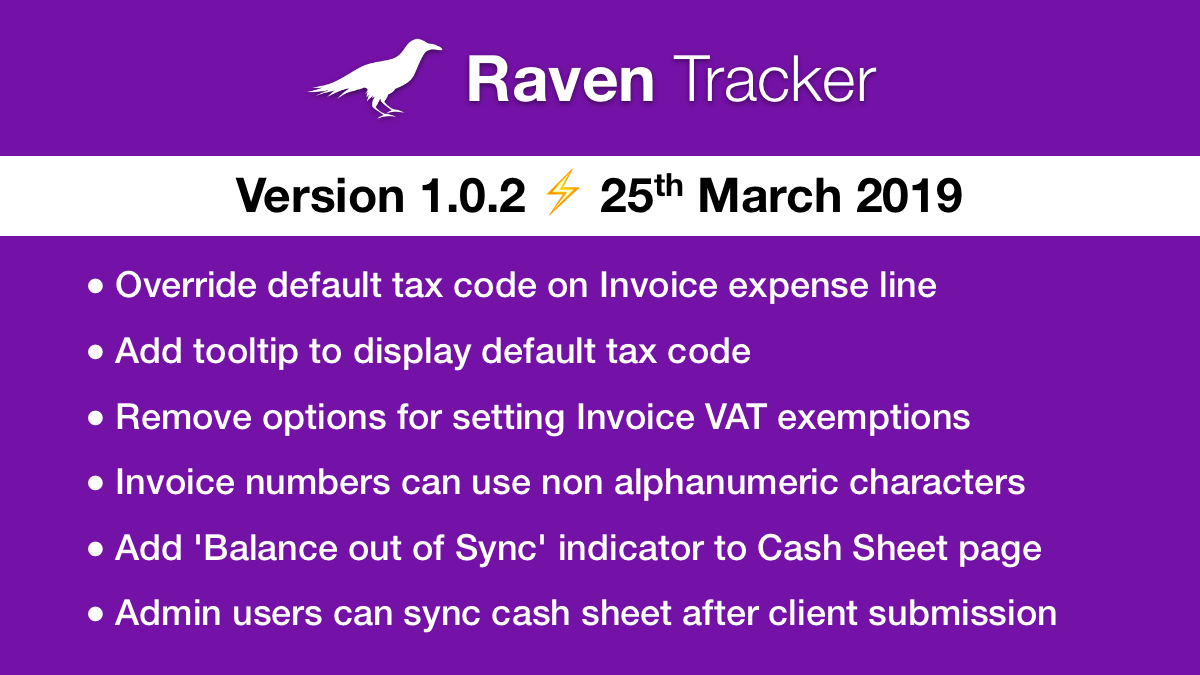 Raven Tracker 1.0.2