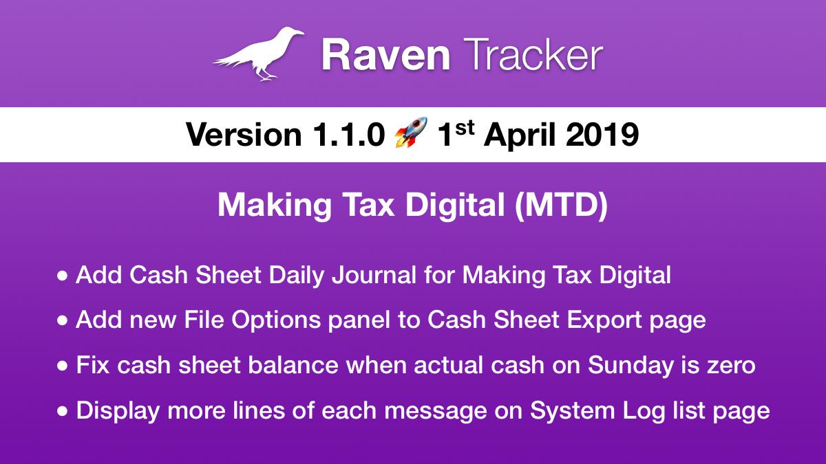 Raven Tracker 1.1.0