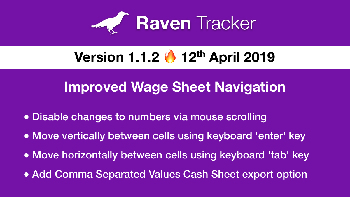 Raven Tracker 1.1.2