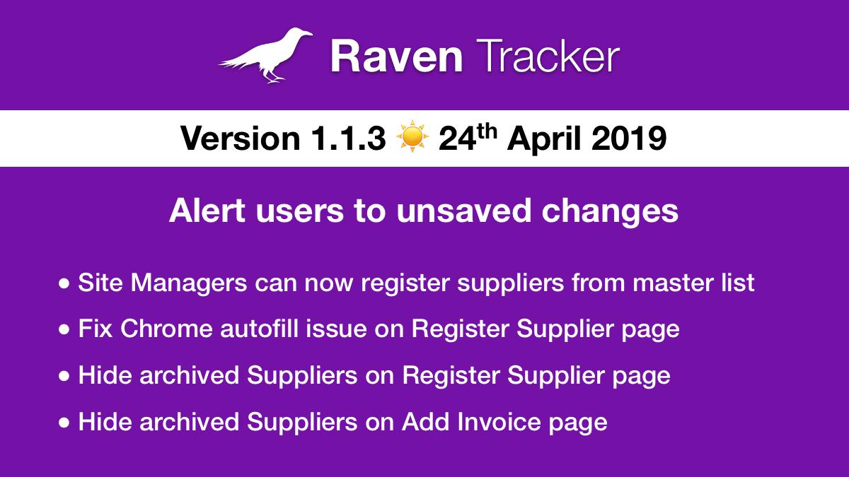 Raven Tracker 1.1.3