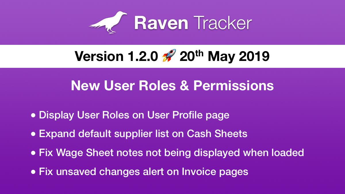 Raven Tracker 1.2.0