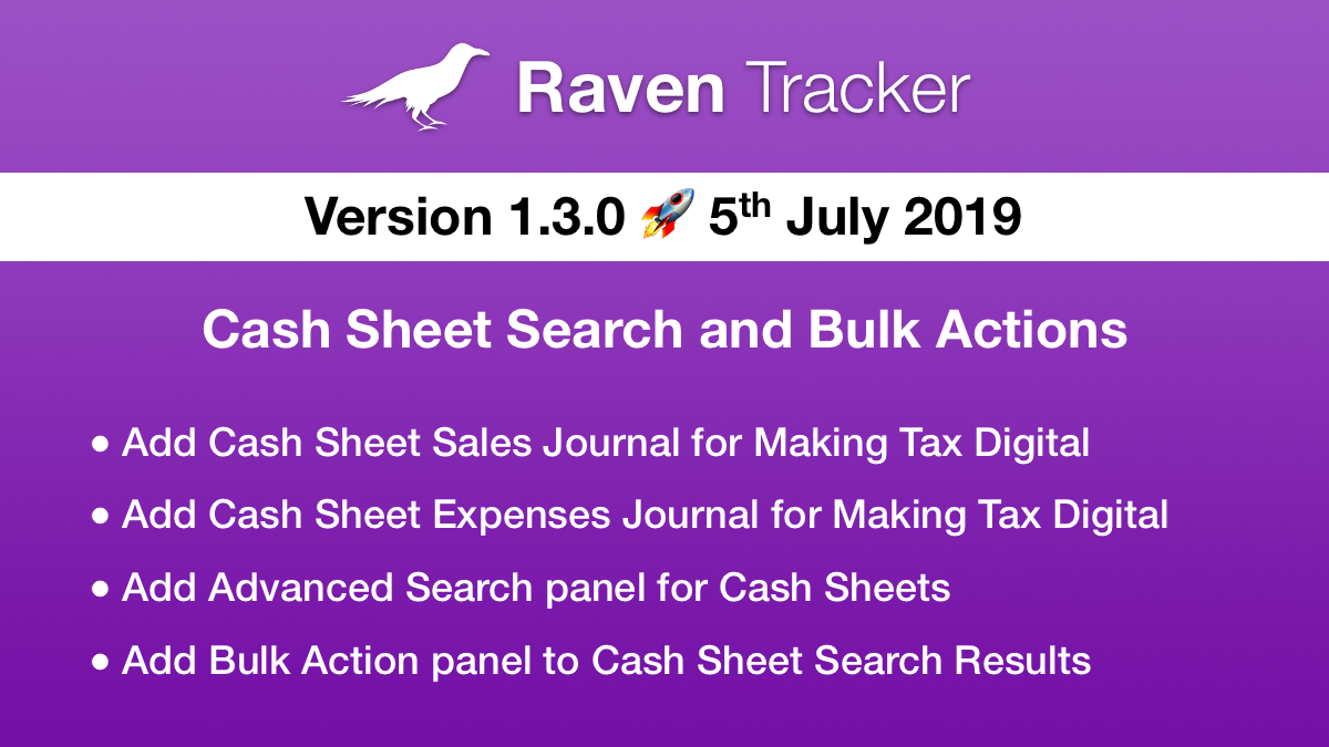 Raven Tracker 1.3.0