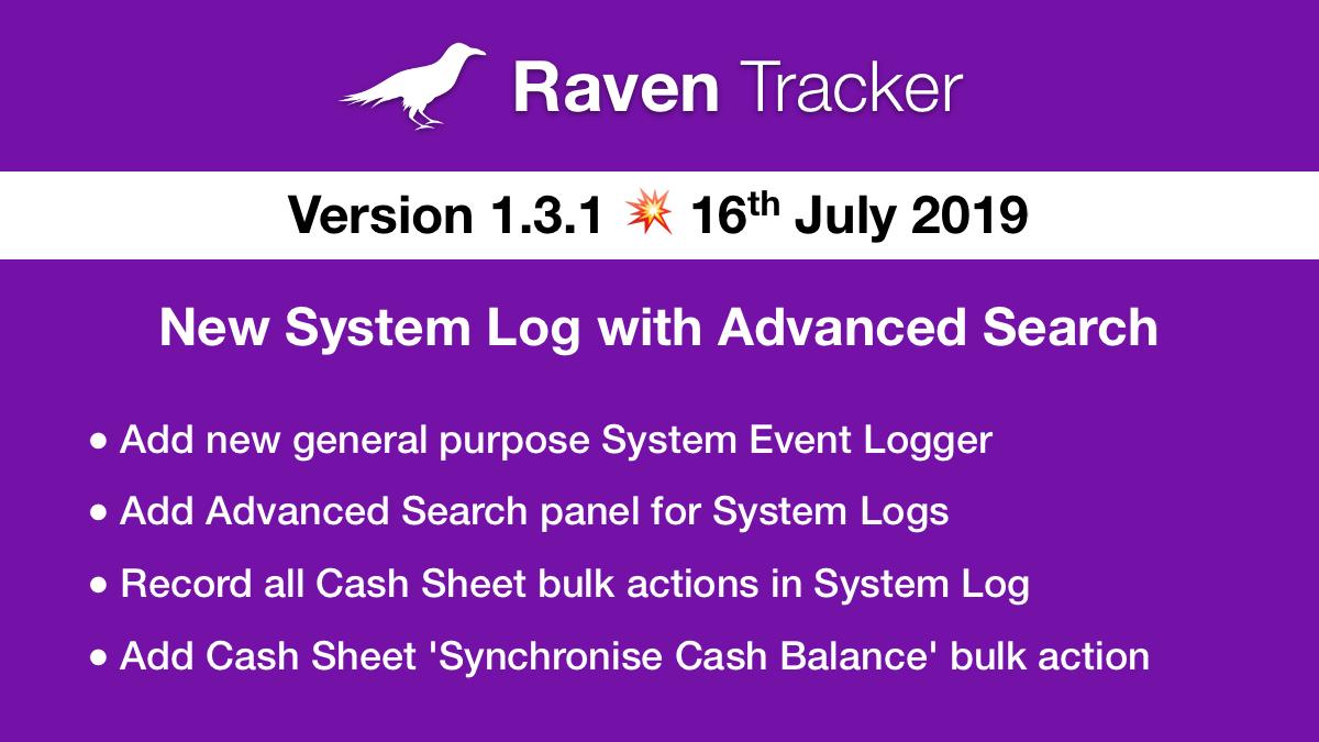 Raven Tracker 1.3.1