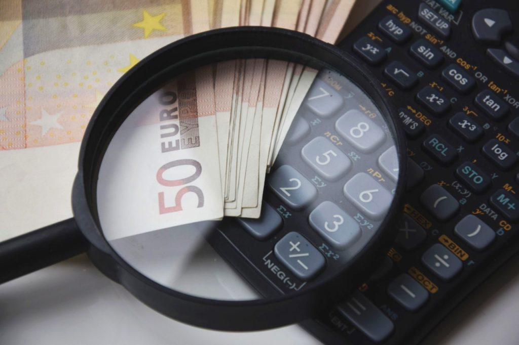 Banknote Beside Calculator
