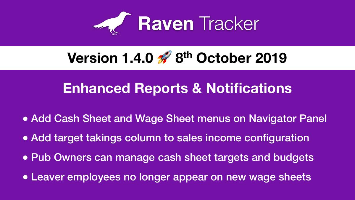 Raven Tracker 1.4.0