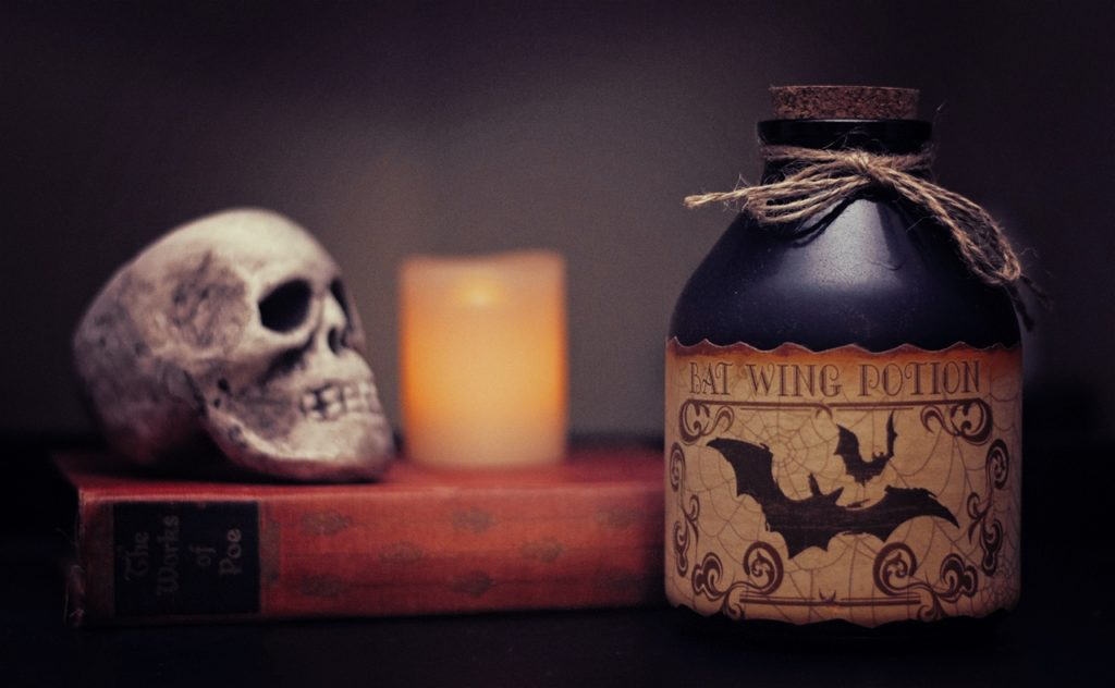 Halloween Bat Wing Potion