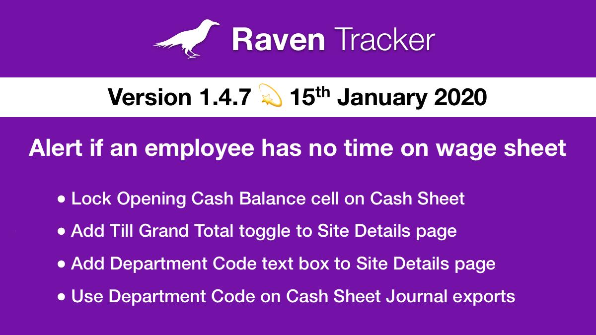 Raven Tracker 1.4.7