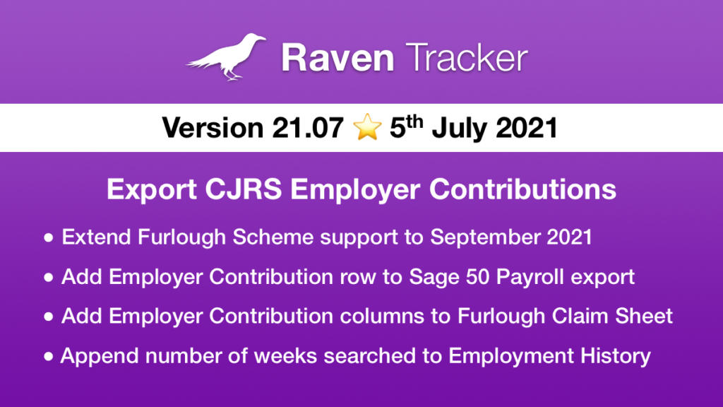 Raven Tracker 21.07